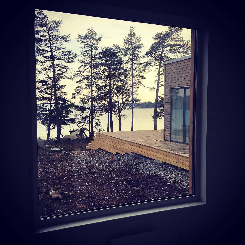 Sjöutsikt attefallshus & friggebod & fritidshus