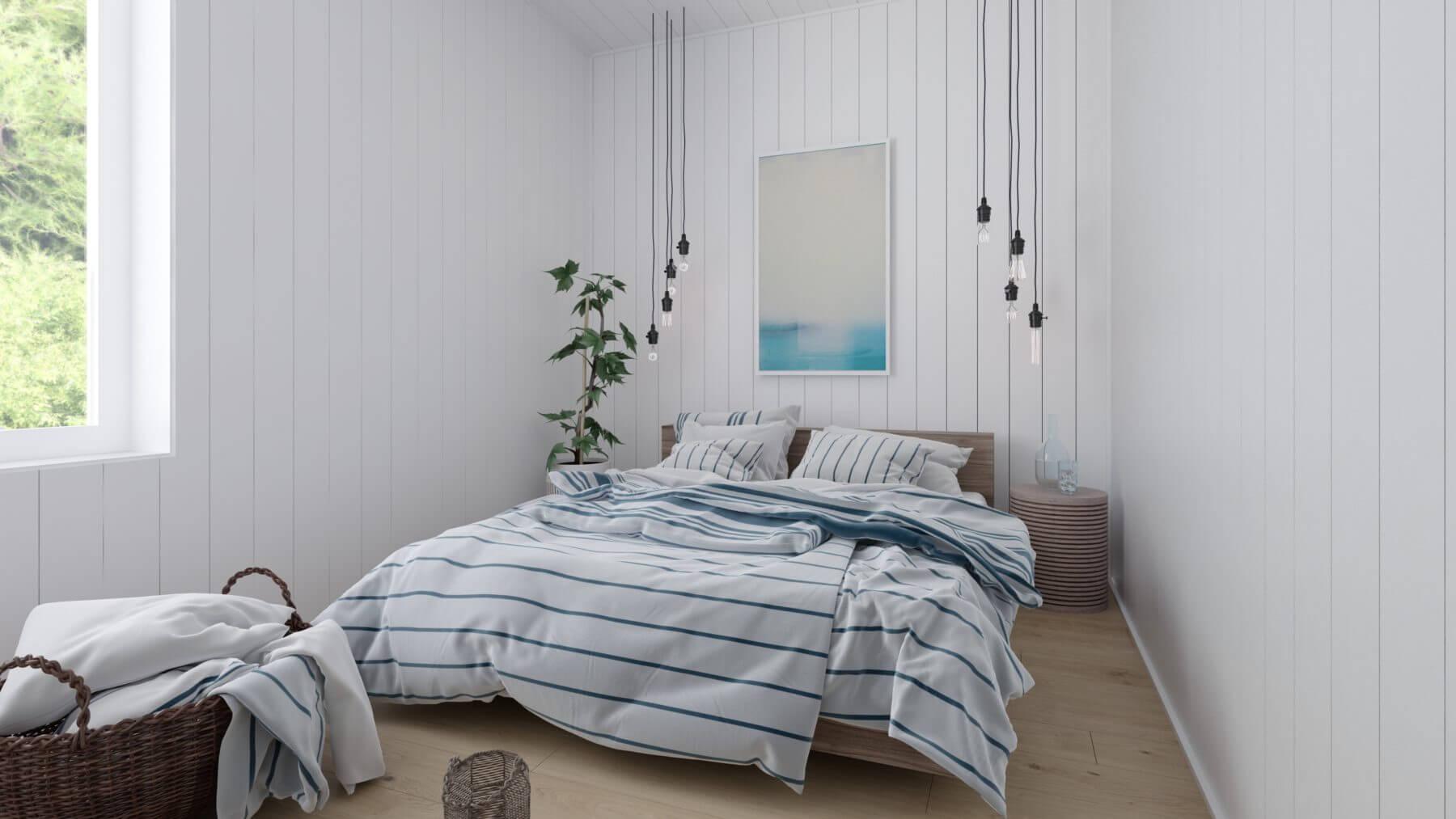 Fritidshus Klassisk 50.1 sovrum med dubbelsäng