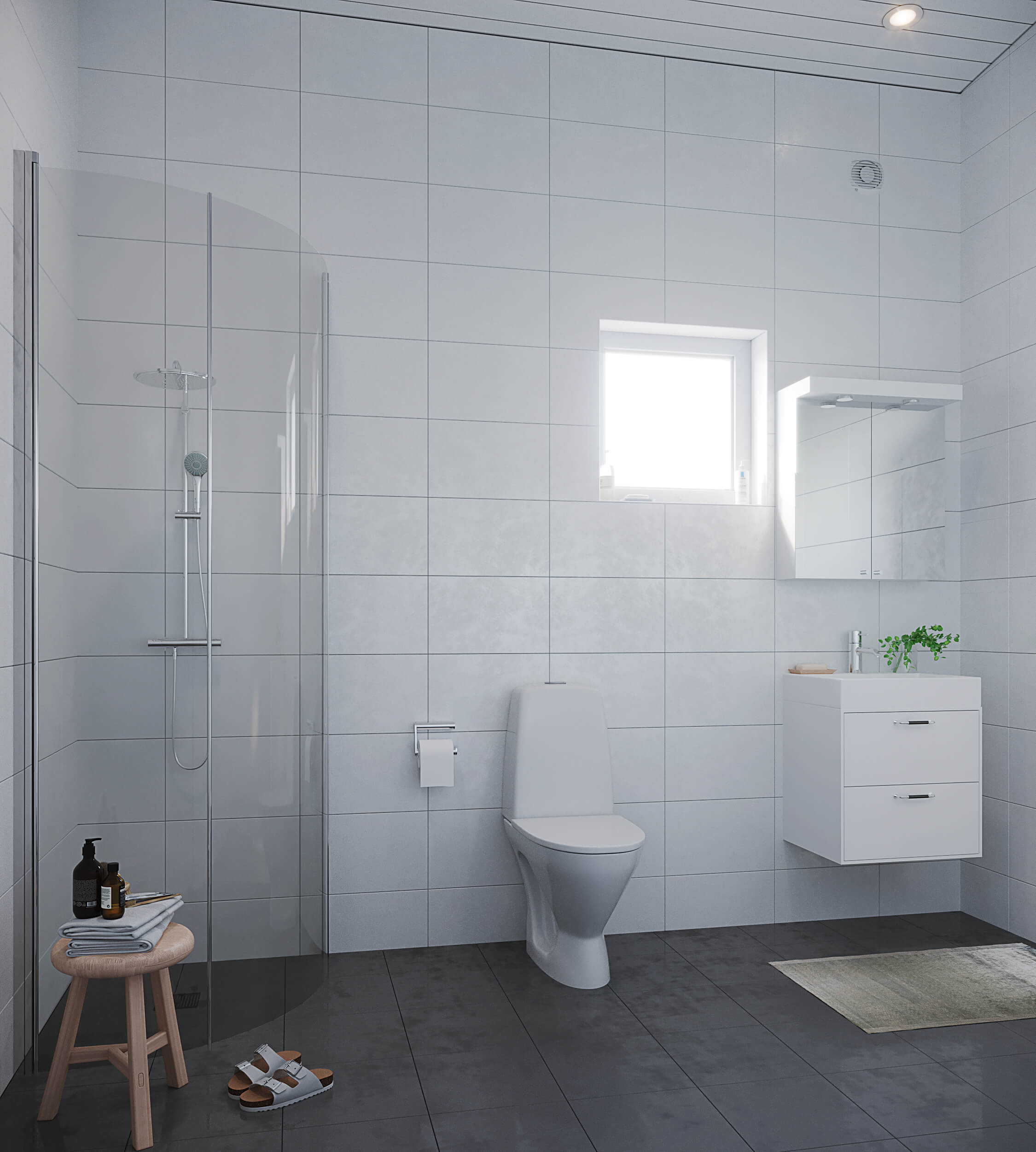 Färdigt badrum