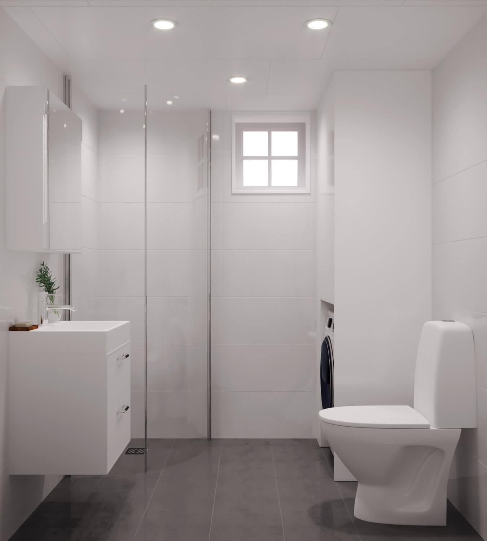 Attefallshus Klassisk rak 30.3 Interiör badrum